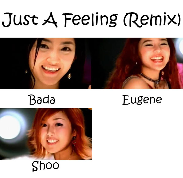 "The members of S.E.S in the ""Just A Feeling"" MV"