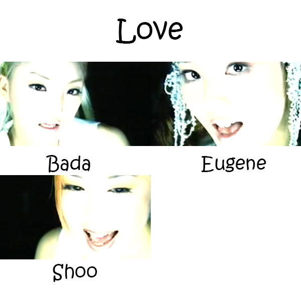"The members of S.E.S in the ""Love"" MV"