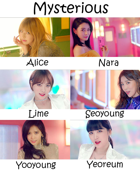 "The members of Hello Venus in the ""Mysterious"" MV"