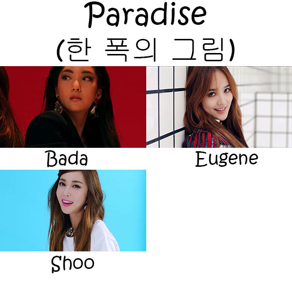 "The members of S.E.S in the ""Pardise"" MV"