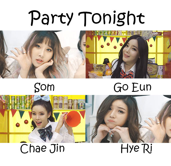 "The members of LAYSHA in the ""Party Tonight"" MV"