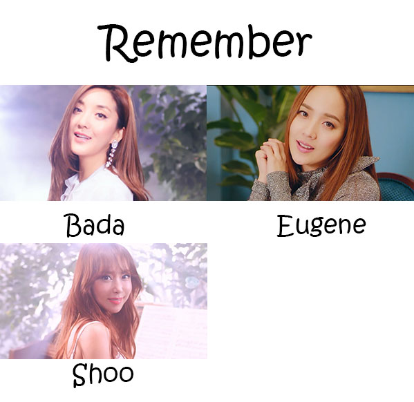 "The members of S.E.S in the ""Remember"" MV"