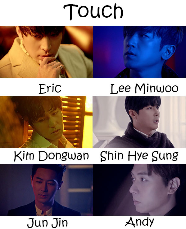 "The members of Shinhwa in the ""Touch"" MV"