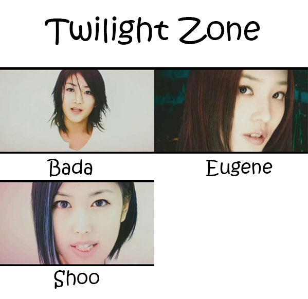 "The members of S.E.S in the ""Twilight Zone"" MV"