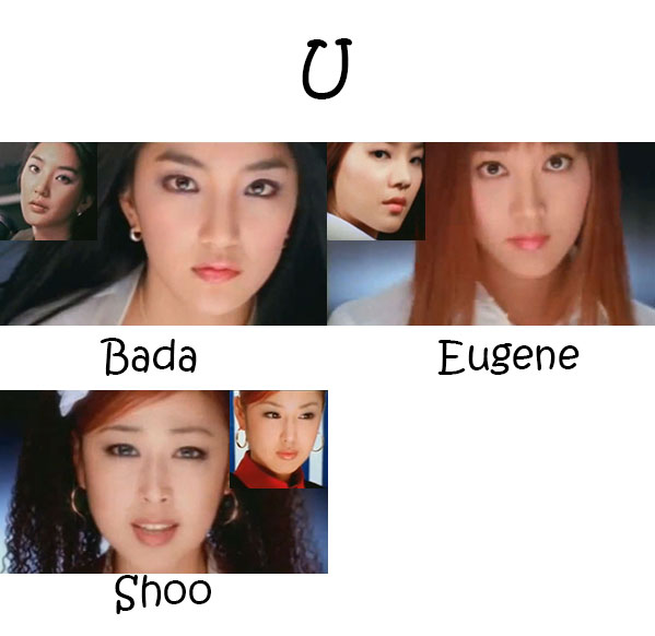 "The members of S.E.S in the ""U"" MV"