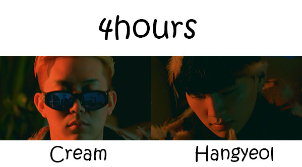 "The members of Laybacksound in the ""4hours"" MV"