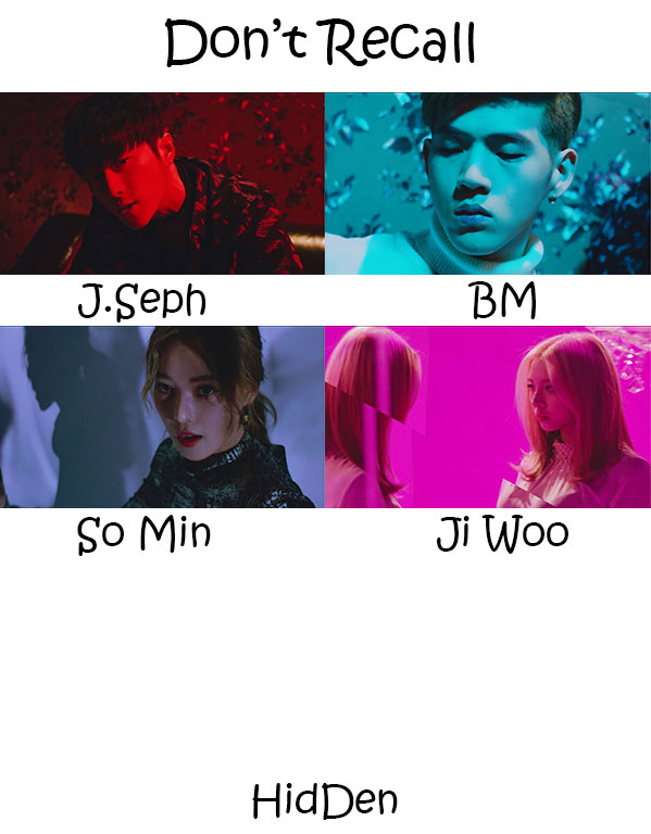 "The members of K.A.R.D in the ""Don't Recall"" MV"
