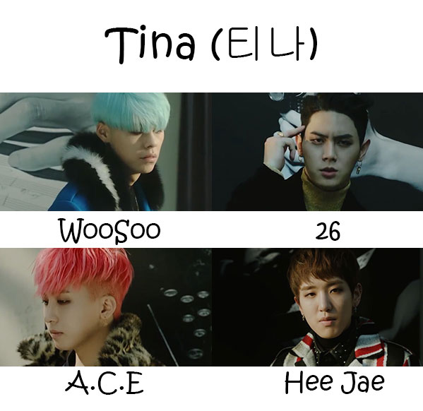 "The members of MASC in the ""Tina"" MV"