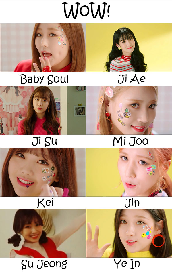 "The members of Lovelyz in the ""WoW"" MV"