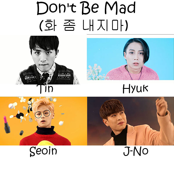 "The members of APL in the ""Don't Be Mad"" MV"