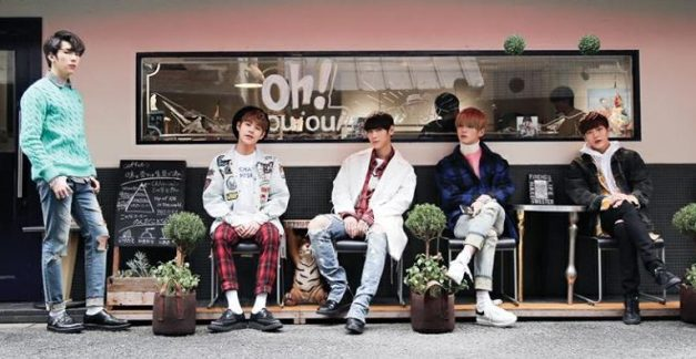 "Imfact's ""Please Be My First Love"" promotional picture."
