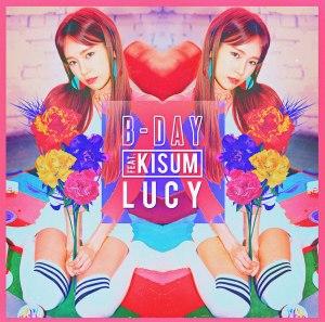 "Album art for Lucy's album ""B-Day"""