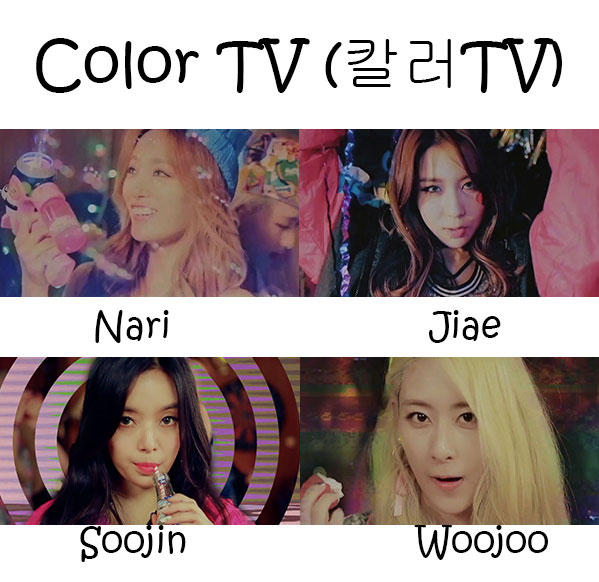 "The members of WA$$UP in the ""Color TV"" MV"