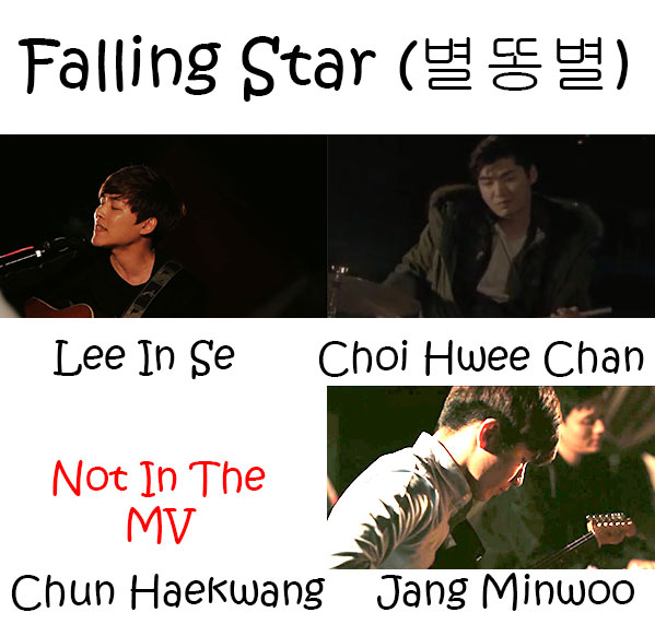 "The members of Corona in the ""Falling Star"" MV"