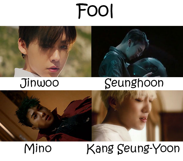 "The members of WINNER in the ""Fool"" MV"