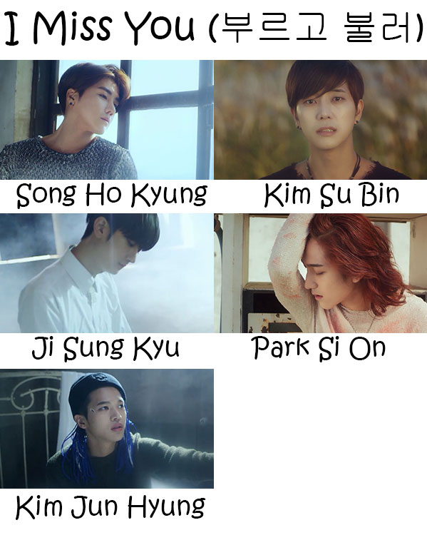 "The members of Say Yes in the ""I Miss You"" MV"
