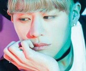 "Imfact's Taeho ""Tension Up"" promotional picture."