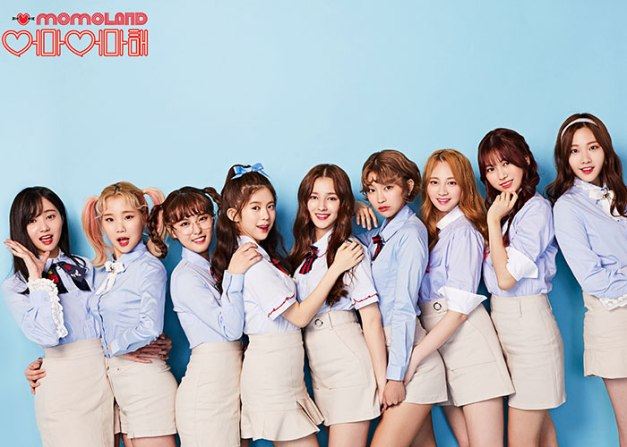 "Momoland's ""Wonderful Love"" promotional picture."