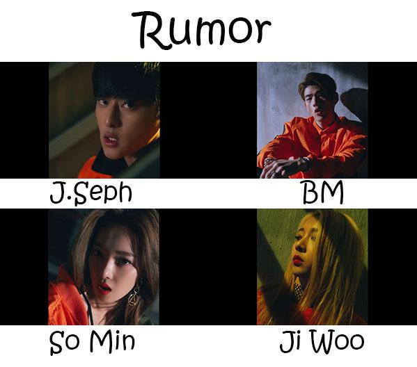 """The members of K.A.R.D in the """"Rumor"""" MV"""