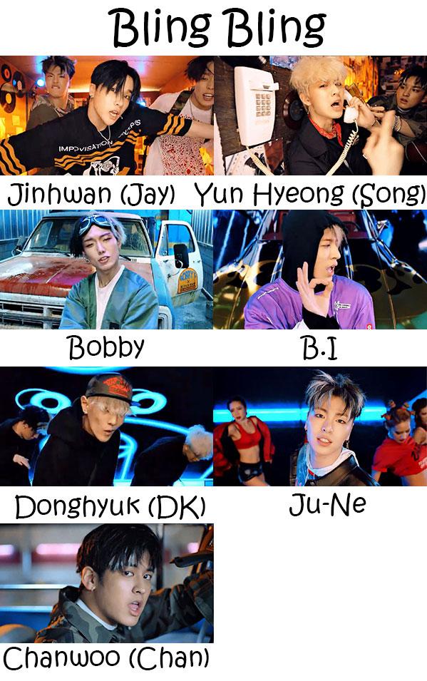 iKON Bling Bling Who's Who | KpopInfo114