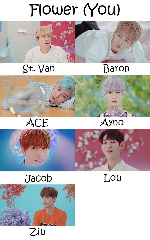 """The members of VAV in the """"Flower (You)"""" MV"""
