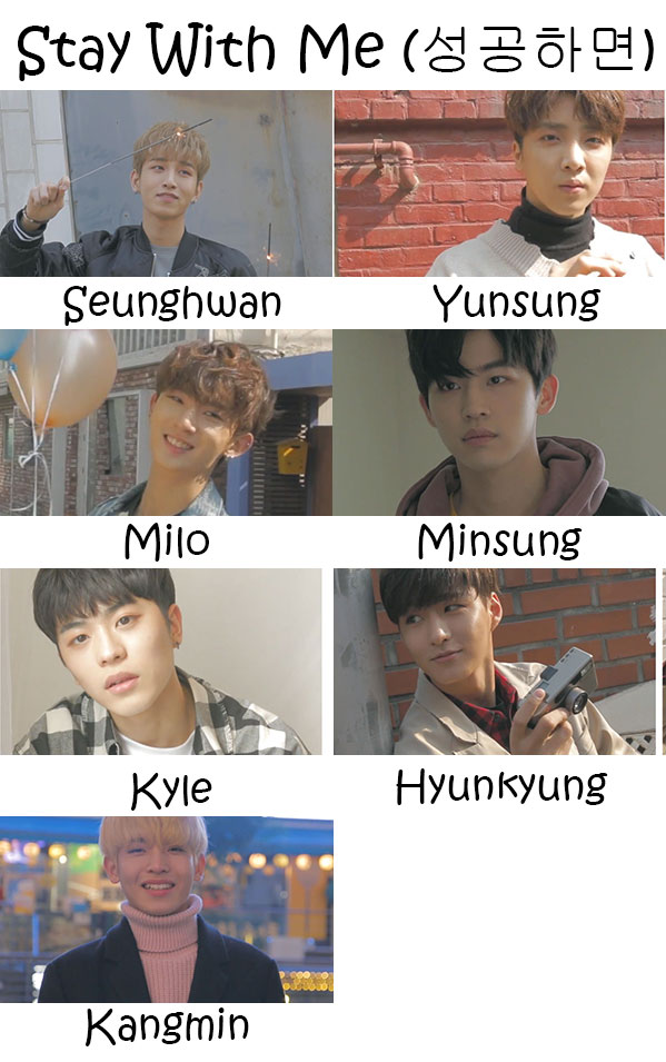 "The members of Romeo in the ""Stay With Me"" MV"