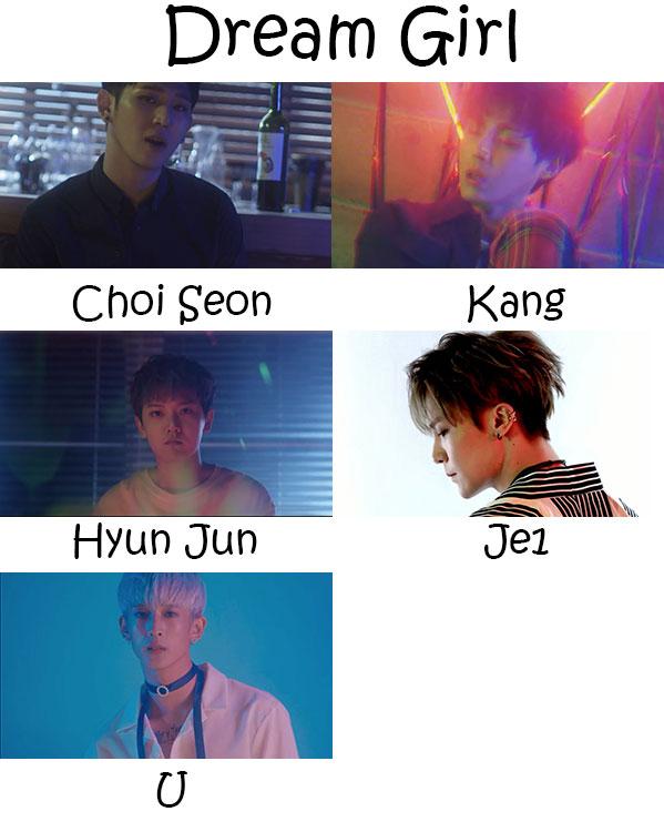 """The members of Vermuda in the """"Dream Girl"""" MV"""