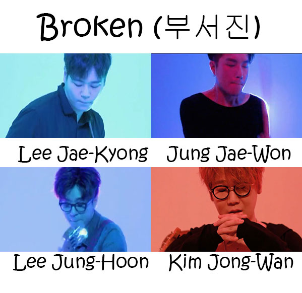 "The members of Nell in the ""Broken"" MV"