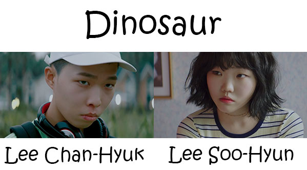 "The members of Akdong Musician in the ""Dinosaur"" MV"