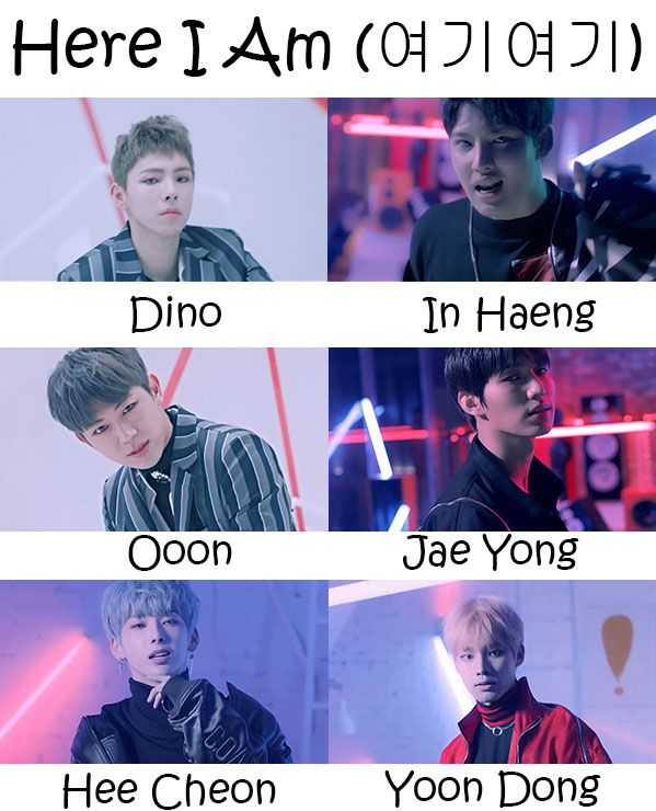 "The members of Halo in the ""Here I Am"" MV"