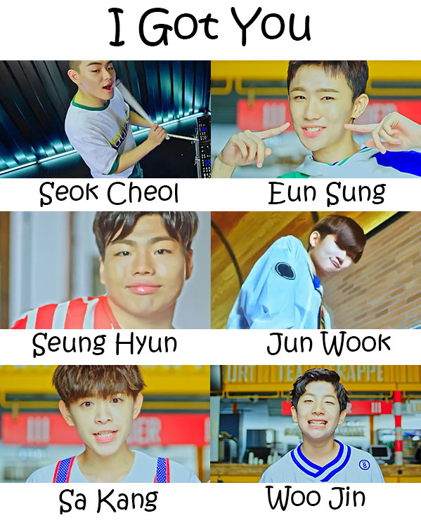 "The members of The Eastlight. in the ""I Got You"" MV"