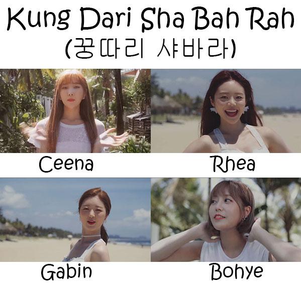 """The members of Live High in the """"Kung Dari Sha Bah Rah"""" MV"""
