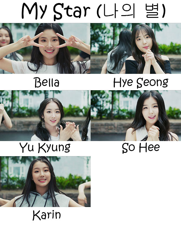 "The members of Elris in the ""My Star"" MV"