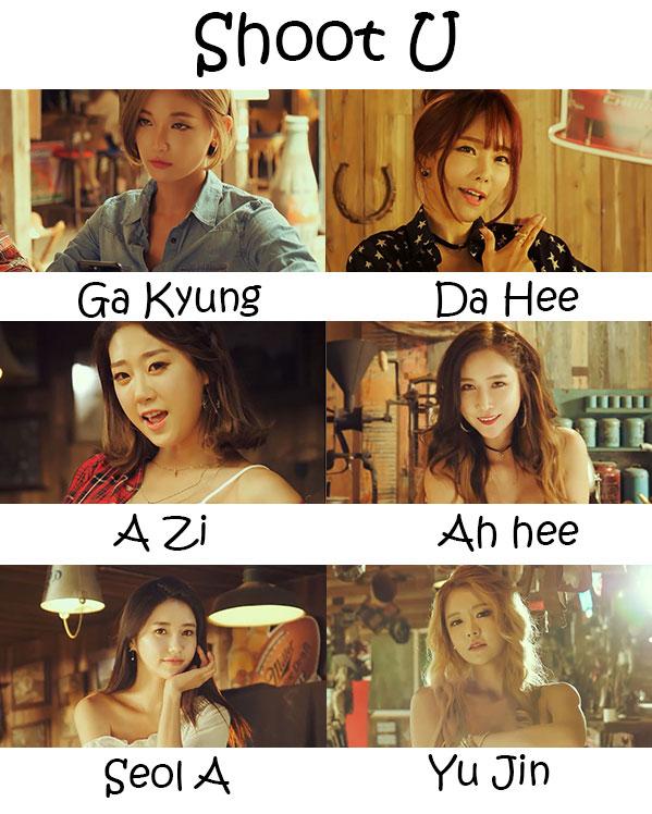 "The members of PPL in the ""Shoot U"" MV"