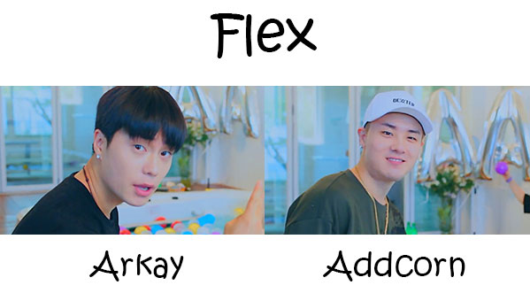 "The members of AA in the ""Flex"" MV"