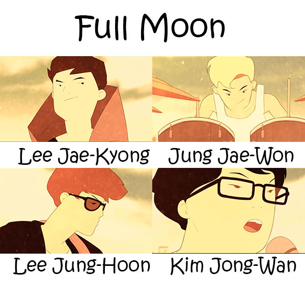 "The members of Nell in the ""Full Moon"" MV"
