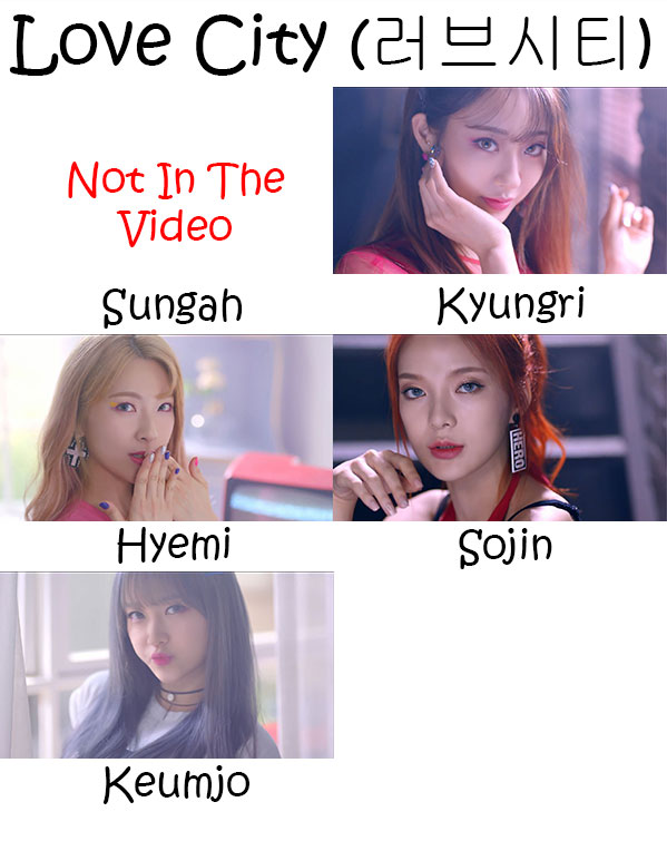 "The members of 9Muses in the ""Love City"" MV"