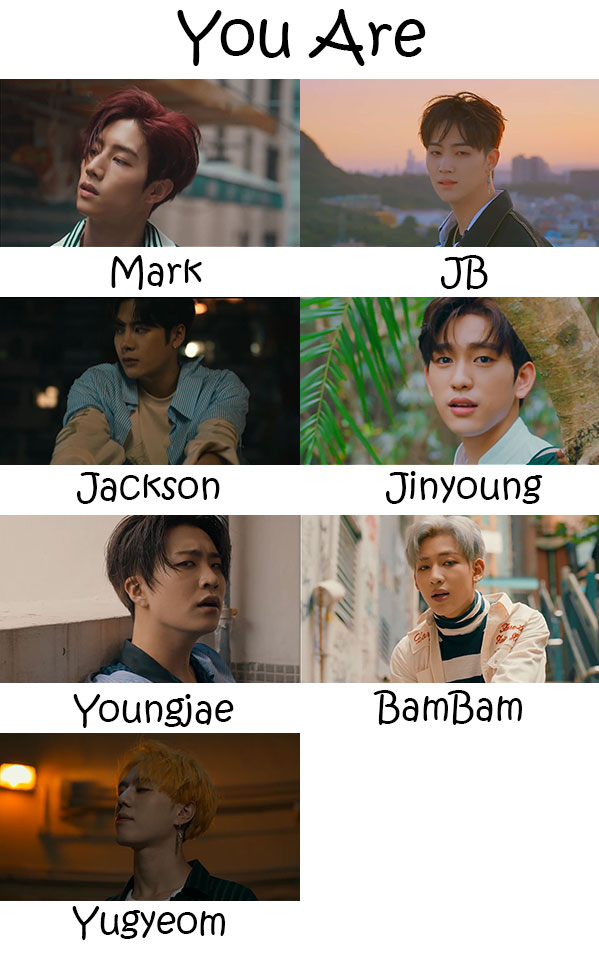 GOT7 You Are Who's Who | KpopInfo114