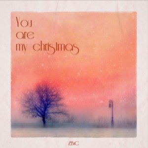 "Album art for 2BiC's album ""You Are My Christmas"""