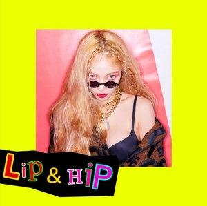 """Album art for Hyuna's album """"Lip & Hip"""""""