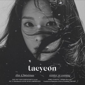 """Album art for Taeyeon's album """"This Christmas - Winter Is Coming"""""""