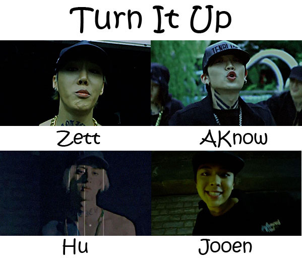 """The members of AFOS in the """"Turn It Up (2016 Ver)"""" MV"""