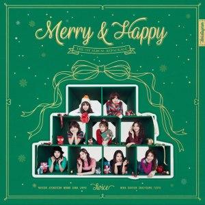 """Album art for Twice's album """"Merry & Happy"""""""