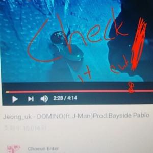 """Album art for Jeonguk's album """"Domino"""""""