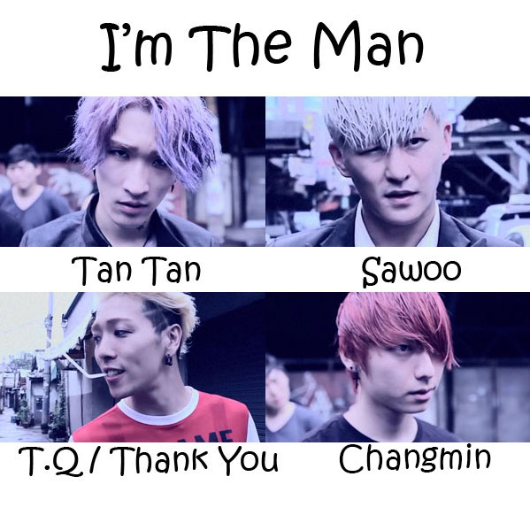 "The members of Kkangpae in the ""I'm The Man"" MV"