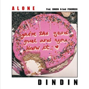 "Album art for Din Din's album ""Alone"""