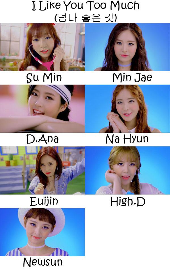 """The members of SONAMOO in the """"I Like You Too Much"""" MV"""