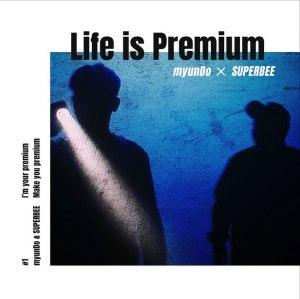 """Album art for 82 Hottest MC's (Superbee & myunDo)'s album """"Life Is Premium"""""""