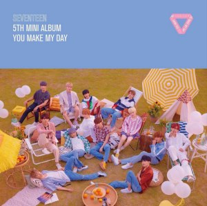 """Album art for Seventeen's album """"You Make My Day"""""""
