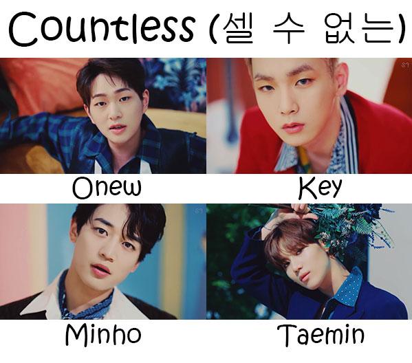 SHINee Countless Who's Who | KpopInfo114
